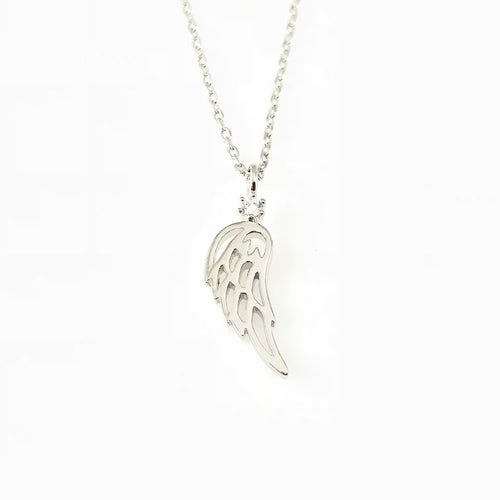 Angel Wing Charm Necklace, Necklaces - www.thestoneflower.com