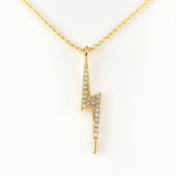 Cubic Thunder Charm Necklace, Necklaces - www.thestoneflower.com