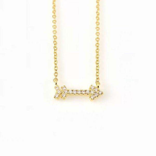 Cubic Arrow Charm Necklace, Necklaces - www.thestoneflower.com