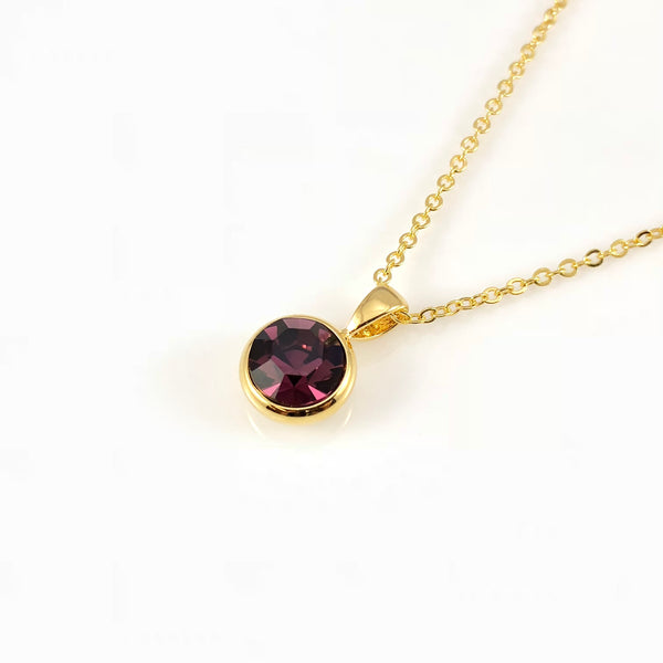Garnet January Birthstone Necklace, Necklaces - www.thestoneflower.com