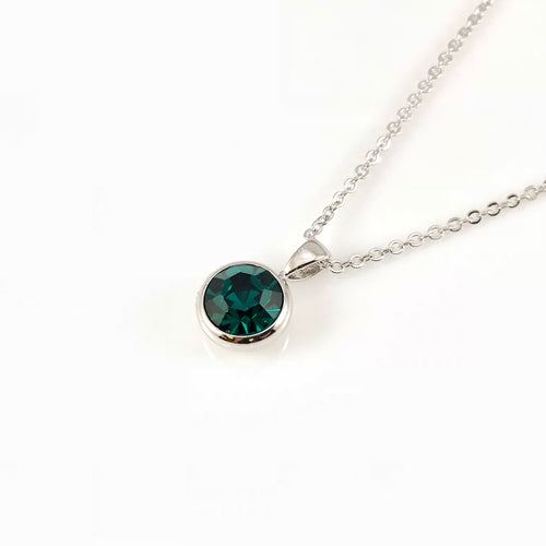Emerald May  Birthstone Necklace, Necklaces - www.thestoneflower.com