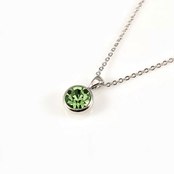 Peridot August Birthstone Necklace, Necklaces - www.thestoneflower.com