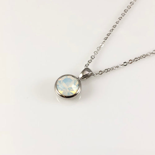 Opal October Birthstone  Necklace, Necklaces - www.thestoneflower.com