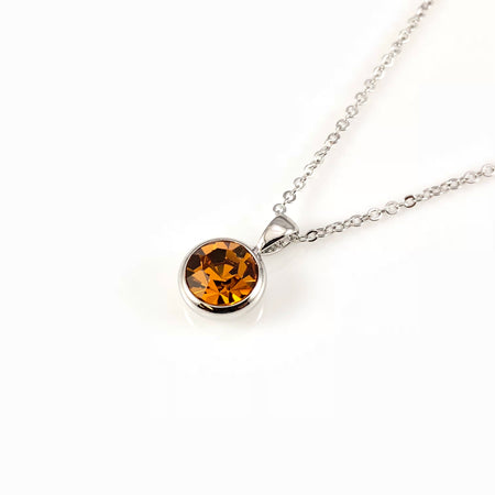 Cubic Thunder Charm Necklace