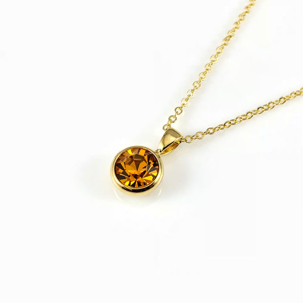 Citrine November Birthstone  Necklace, Necklaces - www.thestoneflower.com