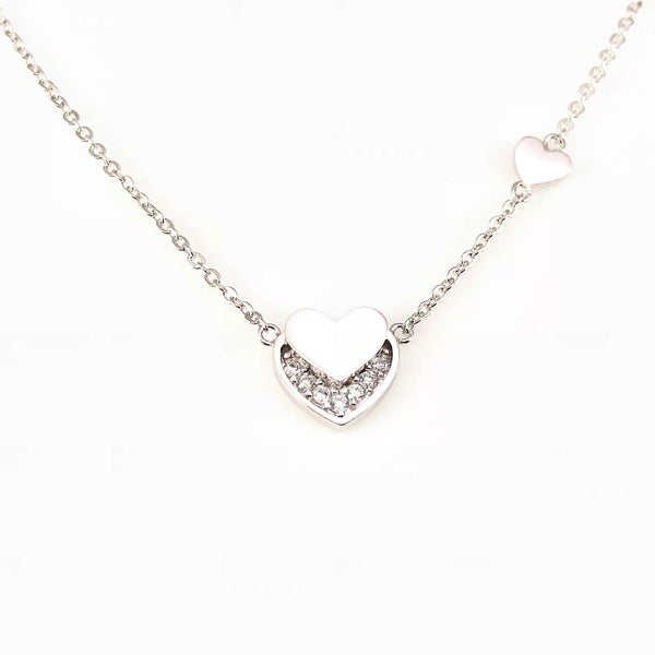Lovely Heart Pendant Necklace, Necklaces - www.thestoneflower.com