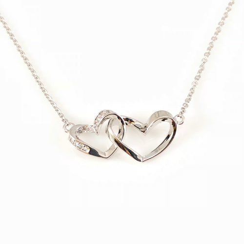 Double Hearts Pendant Necklace, Necklaces - www.thestoneflower.com