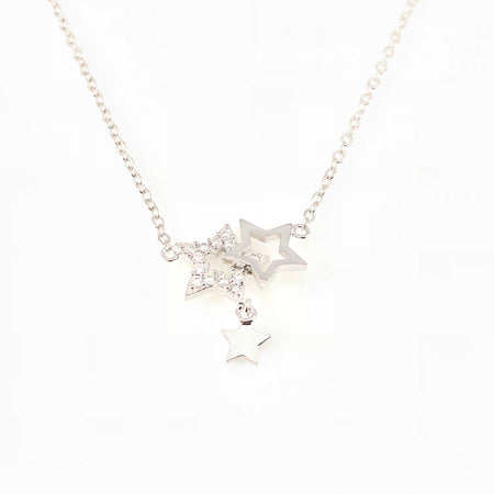 Pixel Flamingo Charm Necklace