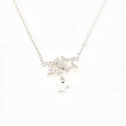 Shiny Stars Pendant Necklace, Necklaces - www.thestoneflower.com