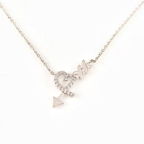 Arrow Heart Pendant Necklace, Necklaces - www.thestoneflower.com