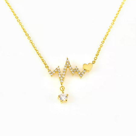 Cubic Bar Charm Necklace