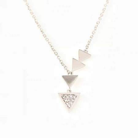 Crystal Hearts Pendant Necklace
