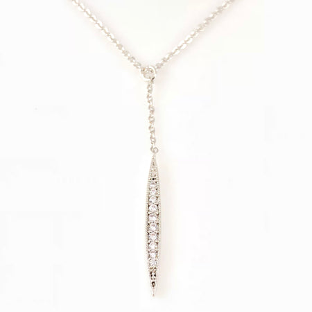 Crystal Leafs Charm Necklace