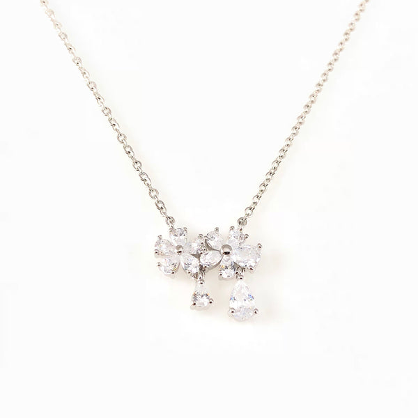 Crystal Flowers Pendant Necklace, Necklaces - www.thestoneflower.com