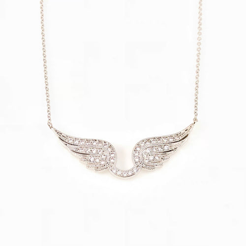 Angel Wing Pendant Necklace, Necklaces - www.thestoneflower.com