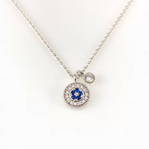 Crystal Round Pendant Necklace, Necklaces - www.thestoneflower.com