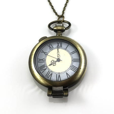 Steampunk Design Pocket Watch Pendant Necklace