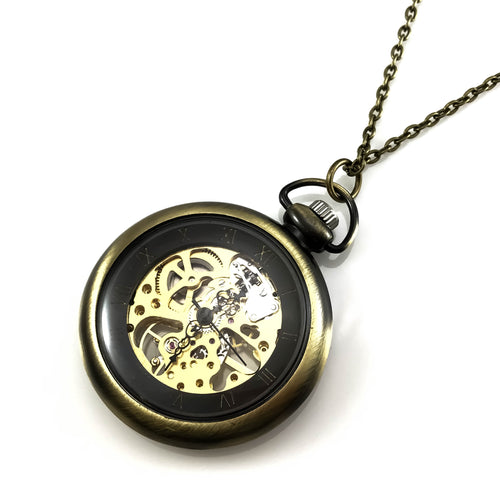 Steampunk Design Pocket Watch Pendant Necklace, Necklaces - www.thestoneflower.com