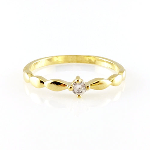 Round Crystal Ring, Rings - www.thestoneflower.com