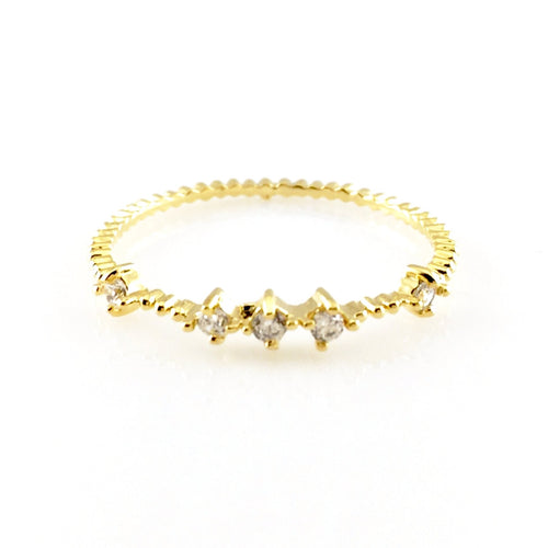Crystal Stackable Ring, Rings - www.thestoneflower.com