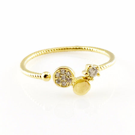 CZ Crystals Hinged Bangle Bracelet
