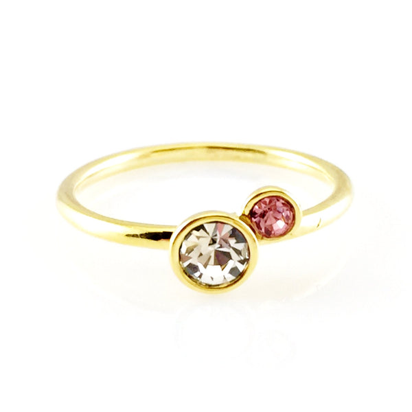 Golden Crystals Ring, Rings - www.thestoneflower.com