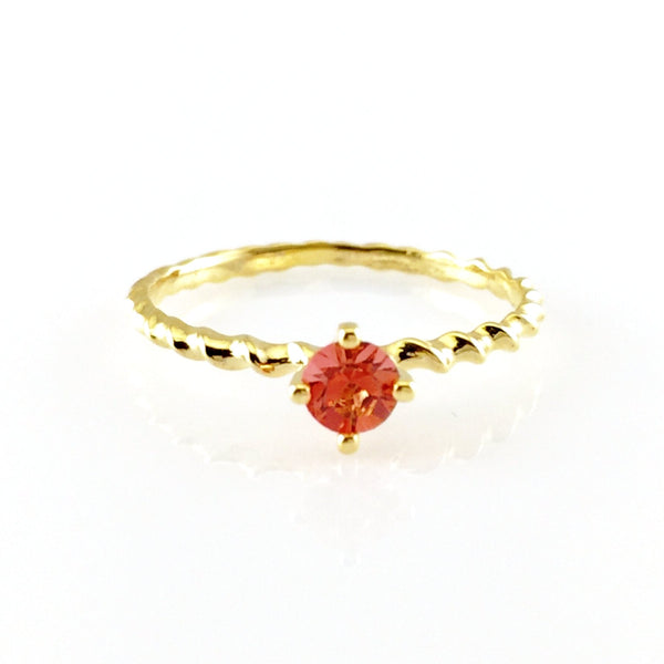 Red Crystal Gold Ring, Rings - www.thestoneflower.com