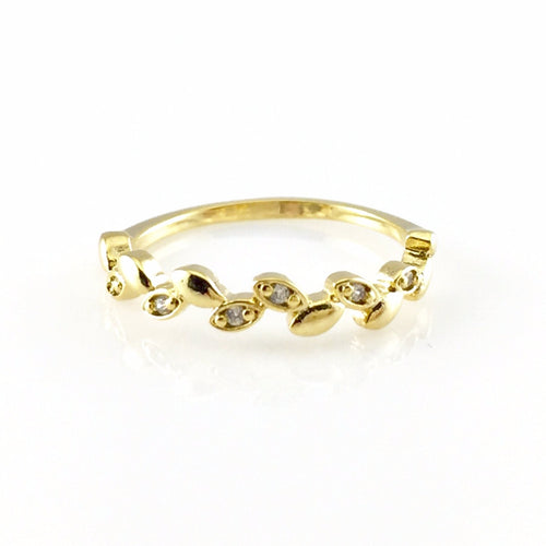 Leaf Gold Ring, Rings - www.thestoneflower.com