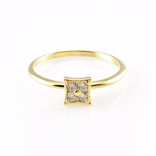 Princess Crystal Ring, Rings - www.thestoneflower.com