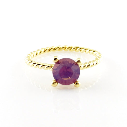 Purple Crystal Gold Ring, Rings - www.thestoneflower.com