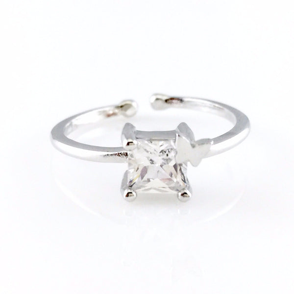 Princess Cut Open Ring, Rings - www.thestoneflower.com