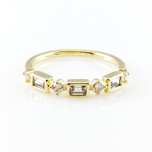 Square Crystal Ring, Rings - www.thestoneflower.com