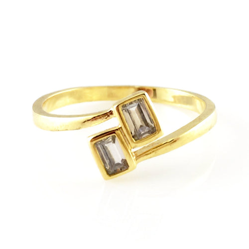 Squares Crystal Ring, Rings - www.thestoneflower.com