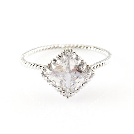 Crystal Bow Open Ring