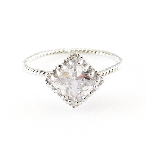 Dimond Shape Crystal Ring, Rings - www.thestoneflower.com