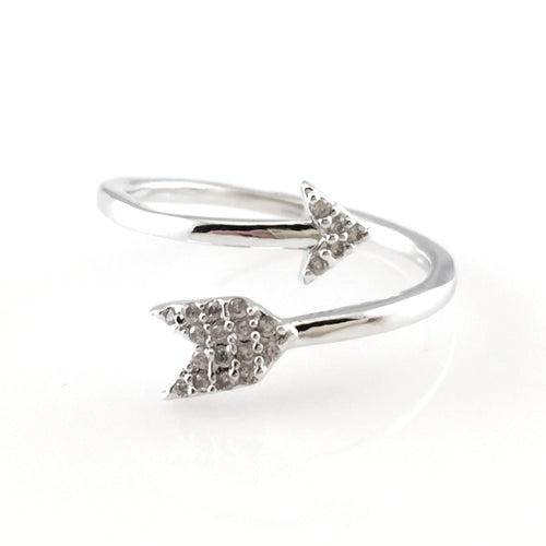 Arrow Open Ring, Rings - www.thestoneflower.com