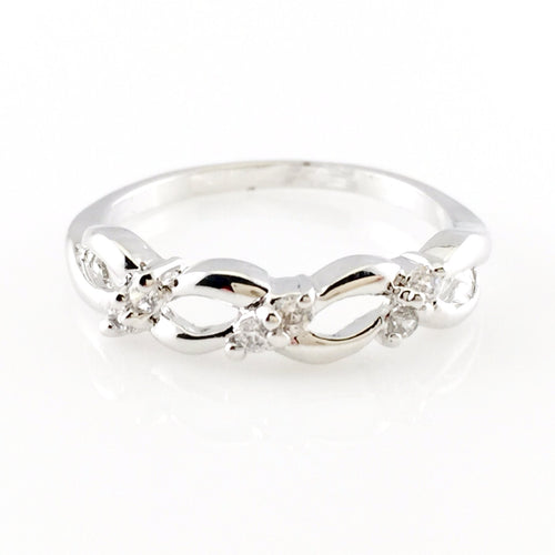 Silver Crystal Ring, Rings - www.thestoneflower.com