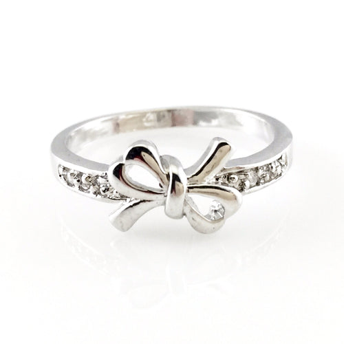 Silver Bow Ring, Rings - www.thestoneflower.com