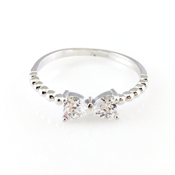 Bow Crystal Ring, Rings - www.thestoneflower.com