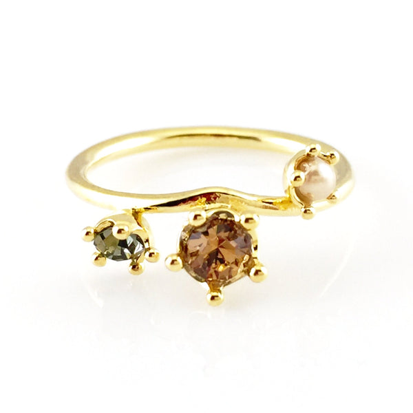 Colorful Crystals Ring, Rings - www.thestoneflower.com