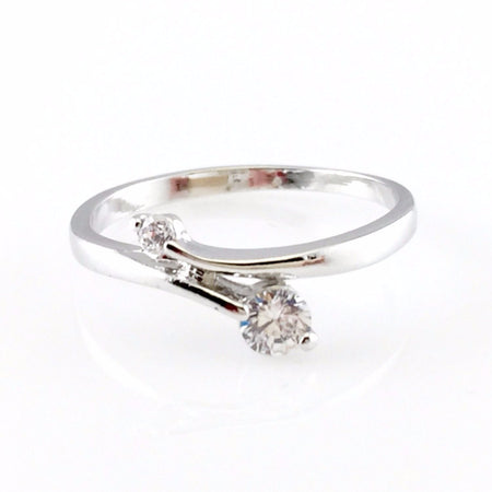 Squares Crystal Ring