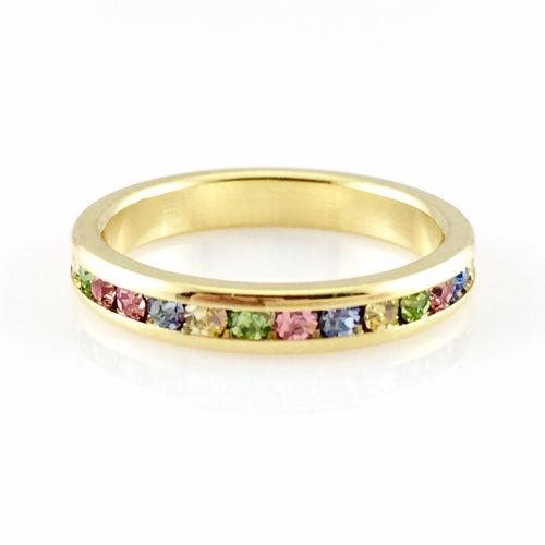 Colorful Classic Ring, Rings - www.thestoneflower.com
