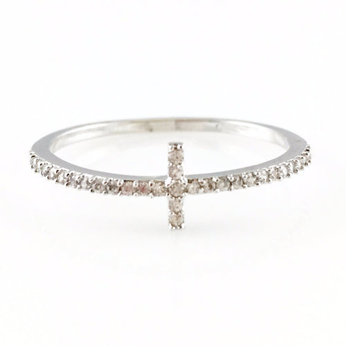 Crystal Cross Ring, Rings - www.thestoneflower.com