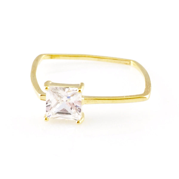 Crystal Square Ring, Rings - www.thestoneflower.com