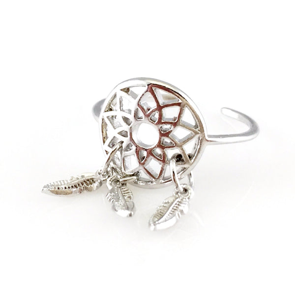 Dream Catcher Open Ring, Rings - www.thestoneflower.com
