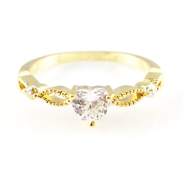 Crystal Heart Ring, Rings - www.thestoneflower.com
