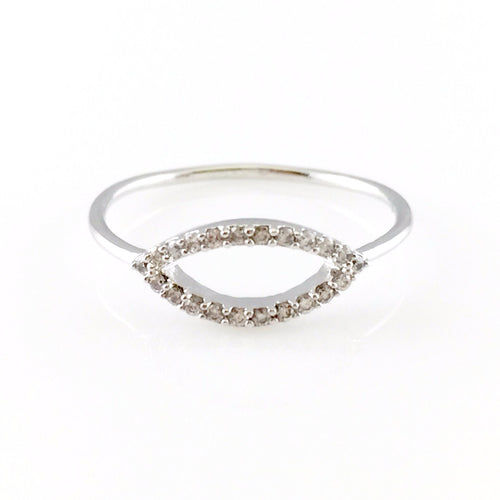 Elegant Crystal Ring, Rings - www.thestoneflower.com