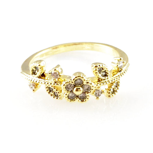 Flowers Crystal Ring, Rings - www.thestoneflower.com