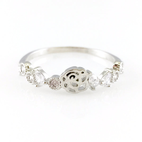 Crystals Rose Ring, Rings - www.thestoneflower.com