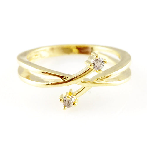 Cross Crystal Ring, Rings - www.thestoneflower.com